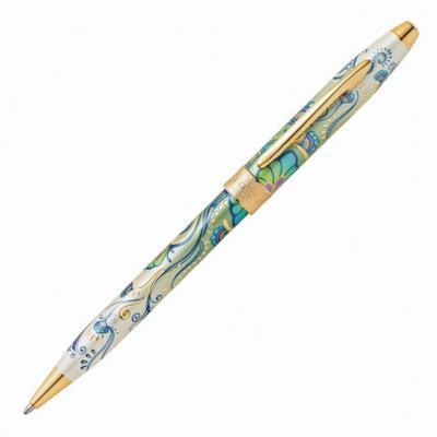 Ручка шариковая шариковая CROSS Зеленая лилия черный 0.7 мм шариковая ручка cross century classic lustrous chrome mblack 3502