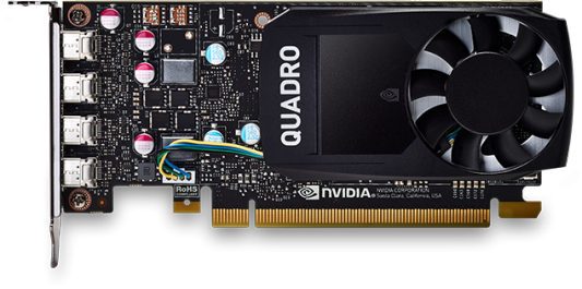 Проф видеокарта 2Gb <PCI-E> PNY nVidia Quadro P620 <GDDR5, 128 bit, 4xmDP, Low Profile, 2xmDP to DP, ATX Bracket, bulk>