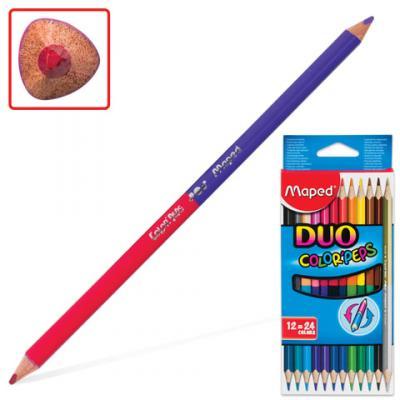 Набор цветных карандашей Maped Color Pep's 24 шт 175 мм двухсторонние