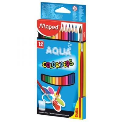 Набор цветных карандашей Maped Color Pep's 12 шт 175 мм акварельные набор капиллярных ручек maped graph pep s цвет чернил черный 12 шт