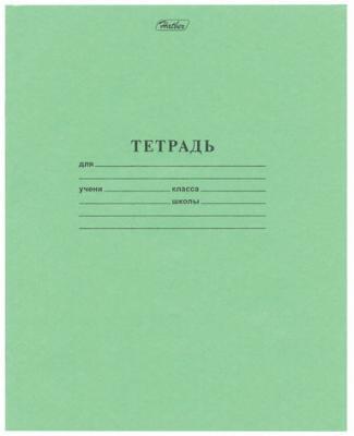 Тетрадь Зелёная обложка 18 л. HATBER, офсет, клетка с полями, 18Т5D, T58060 колыбель качалка beeangel зелёная клетка ys502 grc