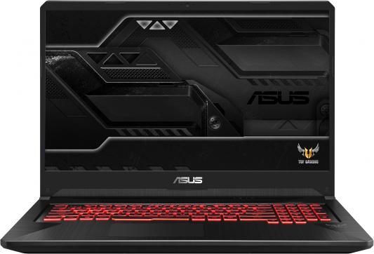 Ноутбук Asus FX705GD-EW117T i5-8300H (2.3)/6G/1T+128G SSD/17.3 FHD AG IPS/NV GTX1050 2G/noODD/BT/Win10 Black ноутбук dell alienware 15 r4 i5 8300h 2 3 8g 1t 128g ssd 15 6 fhd ag ips nv gtx1060 6g backlit win10 a15 7695 silver
