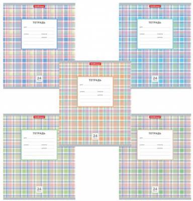 Тетрадь 24 л., ERICH KRAUSE, клетка, мелованный картон обложка, Новая шотландка, 42600 тетрадь 48 л erich krause клетка обложка мелованный картон каньоны 45282