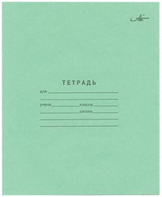 Тетрадь Зелёная обложка 24 л. Архбум, офсет, клетка с полями, CZ02 колыбель качалка beeangel зелёная клетка ys502 grc