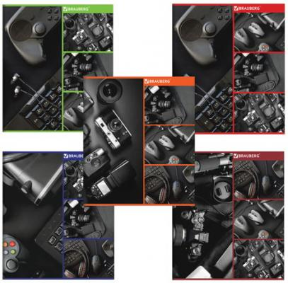 Тетрадь А5, 48 л., BRAUBERG ЭКО, клетка, обложка картон, ОФИС, 403018 тетради апплика тетрадь цветочный принт клетка а5 48 листов