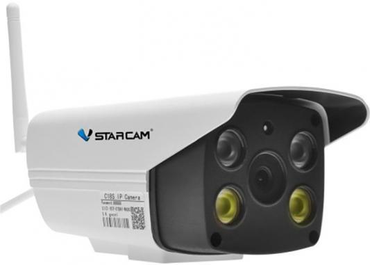 лучшая цена Камера VStarcam C8818WIP Уличная беспроводная IP-камера 1920x1080, 84*, MicroSD, встроенная сирена
