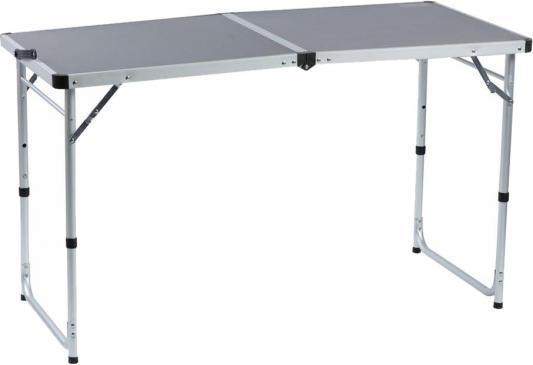 Стол походный Camping World Funny Table Grey (цвет серый, чехол, допустимая нагрузка до 30 кг, размер 120х60х53/62/70 см) цена в Москве и Питере