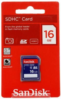Карта памяти SDHC 16Gb SanDisk Class4 карта памяти sony sony 16g tf micro sdhc class4