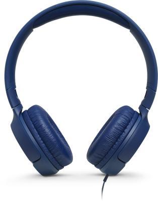 Гарнитура JBL Tune 500 голубой JBLT500BLU цена и фото
