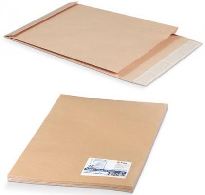 Конверт-пакет С4 объемный, комплект 25 шт., 229х324х40 мм, отрывная полоса, крафт-бумага, коричневый, на 250 листов, 381227.25 эффективное дели 3423 5 крафт конверт почтовое отделение стандартный конверт 220 110мм 20 листов одного пакета