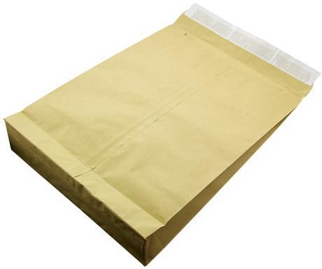 Конверт-пакет С3 объемный, комплект 100 шт., 320х430х80 мм, отрывная полоса, двойнная крафт-бумага, коричневый, до 5 кг, 167151 эффективное дели 3423 5 крафт конверт почтовое отделение стандартный конверт 220 110мм 20 листов одного пакета