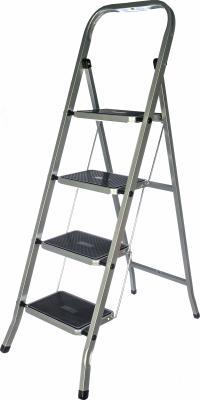 FIT РОС Лестница-стремянка стальная, 4 широкие ступени, Н=129 см, вес 6,25 кг [65383] цена