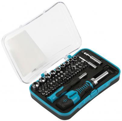 Smartbuy Отверткиснаборомбит(насадок)65предметов,2отвертки,52биты,9головок,CR-V,SmartbuyTools  [SBT-SCBS-65P1] (Smart Buy) Пестяки где инструменты