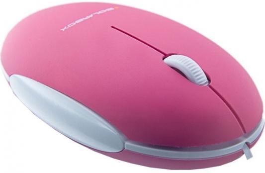 Мышь проводная Solar Box X06 розовый —