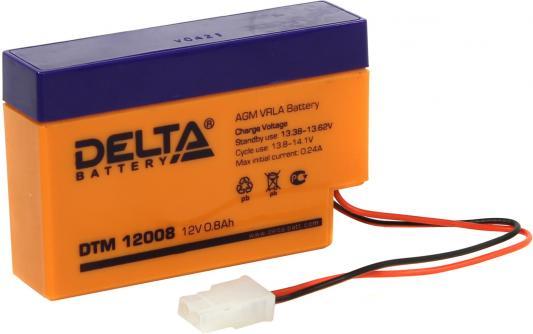 Delta DTM 12008 (0.8 А\\ч, 12В) свинцово- кислотный аккумулятор аккумулятор