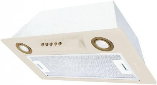 Встраиваемые вытяжки Korting/ Полностью встраиваемая, в шкаф 60см, механическое управление, 3 режима, 650 м3/ч., алюминиевый жировой фильтр, LED освещение, ур.шума 54 дб, цвет - слоновая кость, кнопки и ободки ламп освещения - бронза