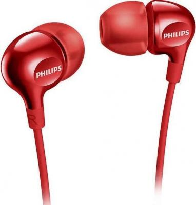 цена на Наушники Philips SHE3555RD/00 красный
