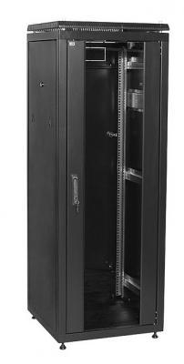"""ITK Шкаф сетевой 19"""" LINEA N 18U 600х600 мм стеклянная передняя дверь черный  - купить со скидкой"""