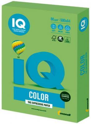 Бумага IQ color, А4, 80 г/м2, 500 л., интенсив, зеленая липа, LG46