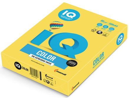 Бумага IQ color, А4, 80 г/м2, 500 л., интенсив, канареечно-желтая, CY39 еж стайл линейка color animals желтая утка 18 5 см