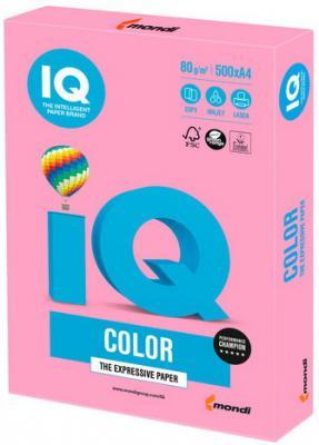 Бумага IQ color, А4, 80 г/м2, 500 л., пастель розовая, PI25