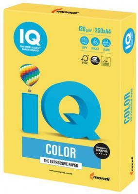 Бумага IQ color, А4, 120 г/м2, 250 л., интенсив, канареечно-желтая, CY39 еж стайл линейка color animals желтая утка 18 5 см