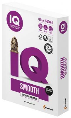 Бумага IQ SELECTION SMOOTH А4, 120 г/м2, 500 л., класс А, Австрия, белизна 170% (CIE) бумага iq selection smooth а4 160g m2 250л а 110742