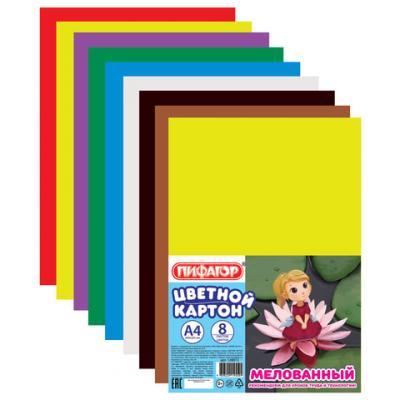Набор цветного картона ПИФАГОР Дюймовочка A4 8 листов дюймовочка 2019 04 06t16 00