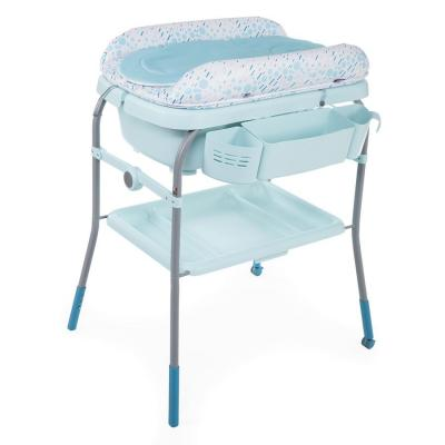 Купить Стол пеленальный с ванночкой Chicco Cuddle & Bubble Comfort (dusty green), зеленый, металл/ пластик, Столы для пеленания