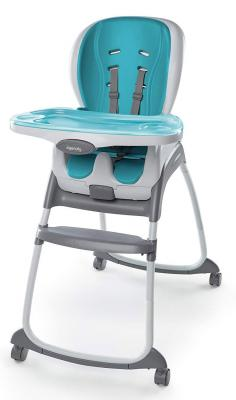 Купить Стульчик для кормления 3-в-1 Bright Starts Smart Clean (blue), голубой, металл + пластик, Стульчики для кормления