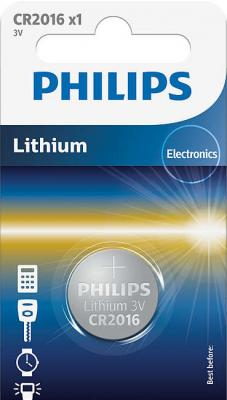 Батарейка Philips CR2016/01B CR2016 1 шт цена и фото