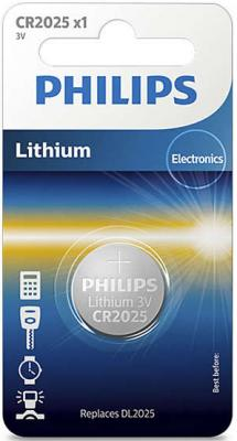 Батарейка Philips CR2025/01B CR2025 1 шт батарейка cr2025 01b philips lithium 3 0v 1 штука