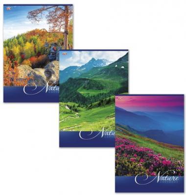 """Картинка для Тетрадь 80 л., А4, HATBER VK, клетка, обложка мелованный картон, """"Nature"""" (""""Природа""""), 80Т4C3, T140765"""