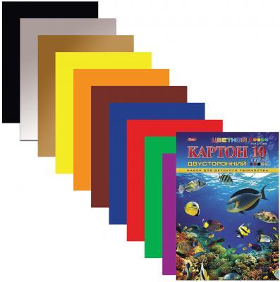Фото - Набор цветного картона Hatber Подводный мир A4 10 листов набор цветного картона hatber creative a4 10 листов 126945