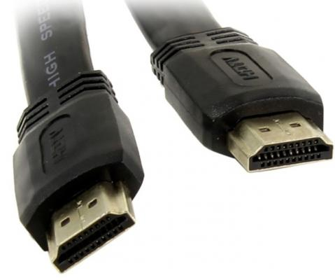Кабель HDMI 5м TV-COM CG200F-5M плоский черный цена и фото