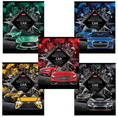 Тетрадь 48 л. HATBER, клетка, 3D-фольга и 3D-лак, Perfection CAR, 48Т5лофлВ1, T269152 набор тетрадей hatber классика 12т5в2