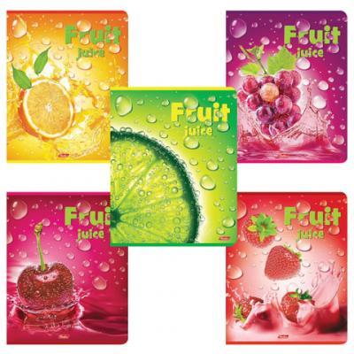 Тетрадь 48 л. HATBER, клетка, 3D-фольга и матовая ламинация, Fruit Juice, 48Т5олВ1, T243497 набор тетрадей hatber классика 12т5в2