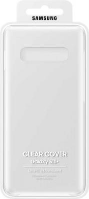 Чехол (клип-кейс) Samsung для Samsung Galaxy S10+ Clear Cover прозрачный (EF-QG975CTEGRU) чехол samsung ef qg570ttegru для samsung galaxy j5 prime clear cover прозрачный