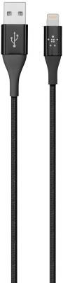 Кабель Lightning 3м Belkin F8J207ds04-BLK круглый черный цена и фото