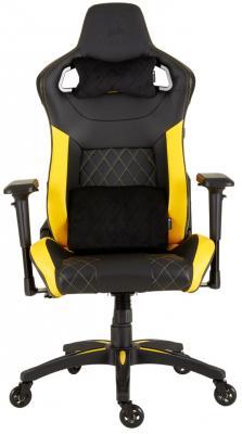 Кресло игровое Corsair Gaming T1 RACE 2018 чёрный жёлтый (CF-9010015-WW) игровое кресло corsair gaming t1 race черно синий cf 9010004 ww