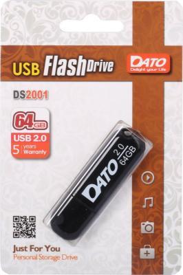 Флеш Диск Dato 64Gb DS2001 DS2001-64G USB2.0 черный