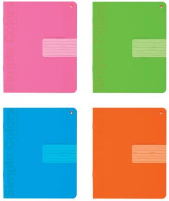 Тетрадь 24 листа, АЛЬТ, клетка, понтонная краска, выборочный лак, Простые цвета, 7-24-773/1