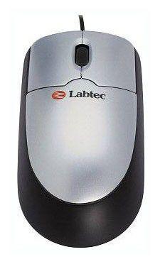 Мышь Labtec 800, оптическая, PS/2+USB, черно-серая, (931734-0914)