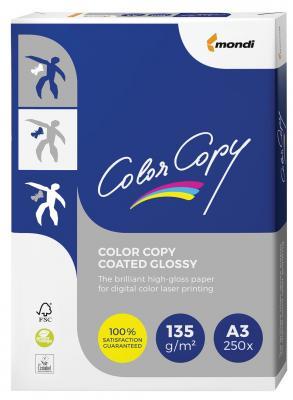 Бумага COLOR COPY GLOSSY, мелованная, глянцевая, А3, 135 г/м2, 250 л., для полноцветной лазерной печати, А++, Австрия, 138% (CIE), A3-7709 color copy glossy 135 г м2 320x450 мм
