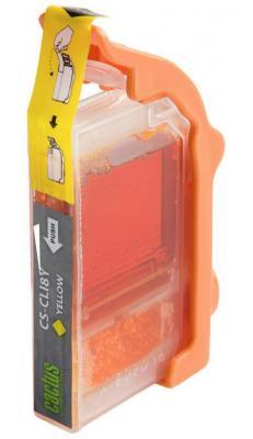 Картридж Cactus CS-CLI8Y для Canon Pixma MP470/ MP500/ MP510/ MP520/ MP530/ MP600/ MP800/ MP810/ MP8 картридж совместимый для струйных принтеров cactus cs pgi29y желтый для canon pixma pro 1 36мл cs pgi29y