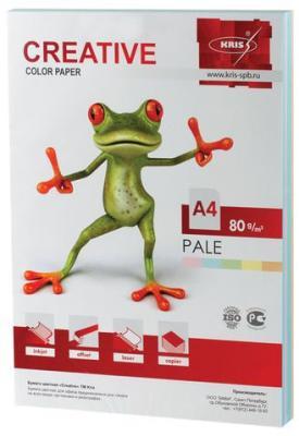 Бумага CREATIVE color (Креатив), А4, 80 г/м2, 250 л. (5 цв. х 50 л.), цветная пастель, БПpr-250r цена