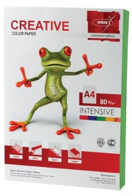 Бумага CREATIVE color (Креатив), А4, 80 г/м2, 100 л., интенсив зеленая, БИpr-100з цена и фото