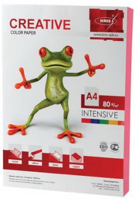 Бумага CREATIVE color (Креатив), А4, 80 г/м2, 100 л., интенсив розовая, БИpr-100р цена и фото