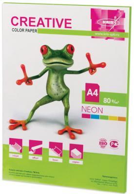 Бумага CREATIVE color (Креатив), А4, 80 г/м2, 50 л., неон салатовая, БНpr-50с