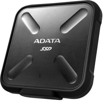 Твердотельный диск 512GB A-DATA SD700, External, USB 3.1, [R/W -440/430 MB/s] 3D-NAND, черный твердотельный диск 256gb a data sd600 external usb 3 1 [r w 440 430 mb s] 3d nand черный